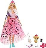 Barbie GML76 - Barbie Prinzessinnen-Abenteuer Puppe (ca. 30 cm) mit Mode und Hündchen, für Kinder...