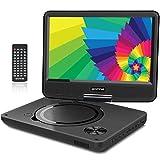 WONNIE 9.5' Tragbarer DVD-Player drehbares HD Display 4 Stunden Akku, Untersttzt USB/SD Slot, AV...