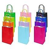 flintronic Papiertüten aus Kraftpapier, 12 Stück Papiertüten mit Henkel, Geschenkverpackung,...