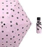 HUOXU Mini-Reise-Sonnenschirm – Leichter kompakter Sonnenschirm mit 95% UV-Schutz, mehrere Farben...