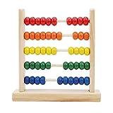 LSSJJ Holz Montessori Abacus Spielzeug Mathe Lernhilfe mit 50 Perlen Zählrahmen Lernspielzeug...