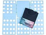 PEARL Wäschefaltbrett: Wäsche-Faltbrett für Hemden & Co, 68 x 57 cm, blau, klappbar...