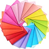 Larcenciel Seidenpapier,100 Blatt mehrfarbiges Seidenpapier Geschenkpapier Geschenkpapierblätter...