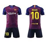 SEYE1° Fußball-T-Shirt, Sportanzug, Barcelona-Trikot, Nr. 10 Messi Fußball-Sportbekleidung,...