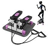 Up-Down-Stepper, Mini Stepper,Mini-Fitnessgerät inkl.Trainingsbänder, Fitnesstraining für...