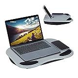 Relaxdays Laptopkissen, ergonomisches Knietablett für Laptop, Bett & Couch, für 11 Zoll Tablet, 6...