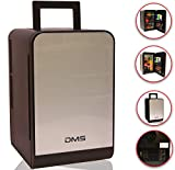 DMS Mini Kühlschrank Minibar Kühlbox Thermobox Kühltruhe 12/230V Edelstahl 22 Liter, Tragbare...