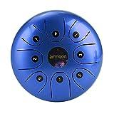 ammoon Steel Tongue Drum Portable Handtrommel 5,5 Zoll Percussion Instrument 8 Noten Zungentrommel...