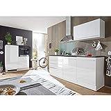 Möbel Akut Küchenblock weiß Hochglanz Jazz 4 anthrazit Küche Einbauküche Küchenzeile 200 cm