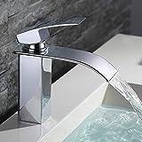 HOMELODY Wasserfall Wasserhahn Bad,Wasserhahn Waschbecken für Badzimmer,Einhandmischer Spülbecken...