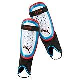 PUMA One 3 + Ankle Sock Schienbeinschoner, White-Azure Blue-Red Blast, M