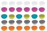 Franken Magnete Haftmagnete fr Whiteboard, Khlschrank, Magnettafel, Magnetwand, farblich sortiert 60...