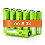 100% PeakPower Akku AA, 12 Stück AA Batterien wiederaufladbar, min. 2300mAh, NiMH Technologie ohne...