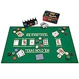 Nexos Poker Starter-Set Pokerset mit 200 Chips in Geschenk-Box aus Metall inkl. Spielmatte 2 Decks...