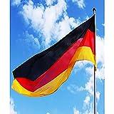 Murago Deutschland Hiss Fahne ca. 450cm x 190cm mit Ösen Große Flagge für Fahnenmast XXL