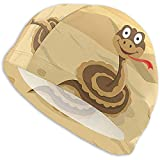Jupsero Badekappe Cartoon Anaconda Swim Ming Cap Badekappe für Frauen und Männer