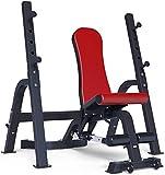 HZC Gewicht Einstellbarer Barbell Bett Bankdrücken Squat Rack-Startseite Hantelbank Fitness Stuhl...