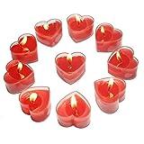 Smart-Planet® Kerzen Ambiente - rote Herzen Teelichter 10 Stück zum Dekorieren Herz für...