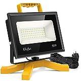 Olafus 60W 6000LM LED Baustrahler, IP66 Wasserdicht LED Arbeitsleuchte Bauscheinwerfer mit Schalter,...