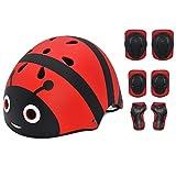ZZSG Helm Set für Scooter Rollschuhlaufen Inliner Skates Radfahren Kinder Sport-Schutzausrüstung...