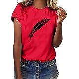 Allegorly Frauen Mdchen Plus Size Print T-Shirt Hemd Kurzarm Casual Bluse Tops Shirt Damen T-Shirt...