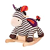 B. toys by Battat – Schaukelpferd Rodeo Rocker Zebra – BPA-freies Zebra Plüsch und Holz zum...