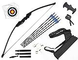 dostyle Recurve Pfeil und Bogen Set Outdoor Bogenschießen Jagd Schießscheiben Training Langbogen...