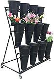 Shelf Praktische Multi-Layer-Blumenstnder Blumengeschft Regale Eisen-Blumen-Gestell-Blumengeschft...