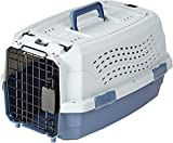 Amazon Basics Transportbox für Haustiere, 2 Türen, 1 Dachöffnung, 48cm