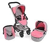 Bayer Chic 2000 645 57 Kombi-Puppenwagen Fides 3-in-1, Melange pink