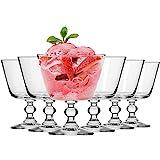 Krosno Eisbecher Eisschale Eisgläser Eiskaffe | Fruchtgeleeschale | Set von 6 | 380 ML | Krista...