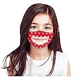 Fannyfuny Kinder Mädchen Mundschutz mit Clear Vinyl Visible Smile Expression, Atmungsaktiv Waschbar...