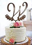 Monogramm-Kuchenaufsatz, Buchstabe W, Monogramm, Tortenaufsatz, Hochzeit, rustikaler Tortenaufsatz...