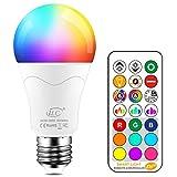 iLC LED Lampe ersetzt 85W, 1000 Lumen, RGB Glhbirne mit Fernbedienung Farbwechsel Farbige Birne...