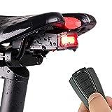 Fahrrad Rücklicht Alarm Diebstahlsicher Fahrradlicht StVZO Zugelassen COB LED Licht USB Aufladbar...