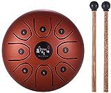 5,5'Lotus Tongue Drum, Mini 8-Ton C-Ton Percussion Drum und DrumsticksXYQB