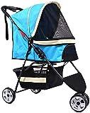 YPYJ Transportwagen für Haustiere, zusammenklappbar, kompakt, praktisch, für Welpen, bequemer...