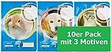 Landre Schulheft A5, Lineatur 2, 16 Blatt, 3 Motive sortiert, blau, 10er Pack