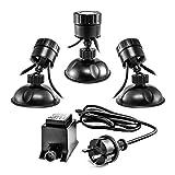 CLGarden Unterwasser LED Teichbeleuchtung Set S3UWS4 Miniteich Beleuchtung Strahler...