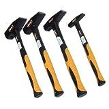4 Hammer-Set 1 kg 300 g 200 g 100 g Schlosserhammer DIN 1041