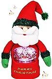 KAMACA XL Singende Weihnachtsfigur mit intergrieter Schneekugel Musik und LED Beleuchtung - witzige...