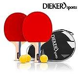 PREMIUM Tischtennisschlaeger Set von Dieker Sports - erstklassigem Spielgrip - 2...