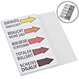 Willingood Haftnotizen Lustig Studenten Block Sticky Notes 5 Blöcke 50 Blatt Streifen Page Marker...
