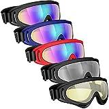 Powcan Skibrille, Motocross Goggle, Ski Snowboard Brille, UV-Schutz Goggle, Schutzbrille...