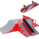 Casecover 1PC Mini Fingertip Spielzeug, Skateboard Spielzeug, Skateboard-Park Brett Rampe Brett...