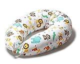 Stillkissen Schwangerschaftskissen zum schlafen groß erwachsene mit Bezug aus 100% Baumwolle...