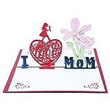 3D Muttertag Karte - Pop up Blumen Muttertagskarte Geburtstagskarte Papier Cut Grußkarte...