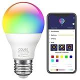 Govee LED RGB Lampe, dimmbare 7W E27 RGB+W Sync mit Musik farbwechsel Glhbirne mit APP | dimmbar...