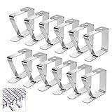 Telgoner Tischdeckenklammer Edelstahl, 12 Stück Draußen Tischtuchklammern Tischdeckenhalter...