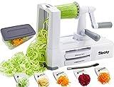 Sboly Gemüse Spiralschneider Gemüseschneider mit 5 Klingen, Zucchini Spaghetti Gerät Zoodle...
